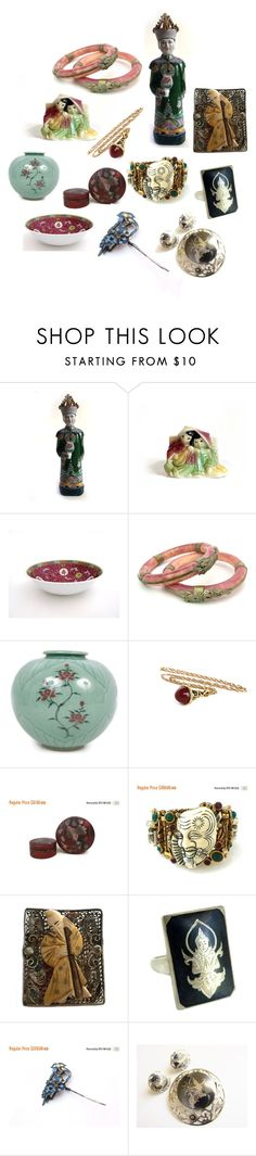 """Asian Collectibles"" by patack ❤ liked on Polyvore featuring vintage"