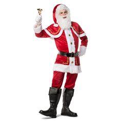 Luxe kerstman kostuum voor heren. Mooi kerstmannen pak van fluweel in de kleur…