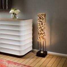 Unique Designer driftwood halogen Uplight Floor Lamp/Light 1000mm high