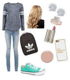 """""""My friend made the outfit for me she said it was """"my style"""" which is true"""" by ainsleighoneal on Polyvore featuring Yves Saint Laurent, Converse, Boohoo, adidas, Allurez, Effy Jewelry, Christian Louboutin, Ilia and BaubleBar"""