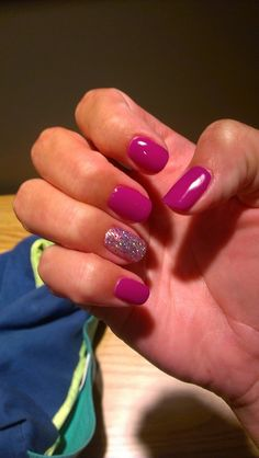 Gelish. I just had this done, and so far I am AMAZED at how durable it is. I used it on my natural nails and they are so strong!
