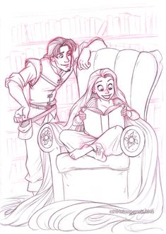 rapunzel and eugene by `briannacherrygarcia on deviantART