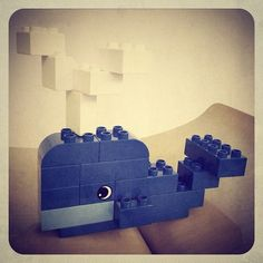 Toy whale for my toddler in Lego Duplo. Toy whale for my toddler in Lego Duplo. Lego Design, Lego Therapy, Construction Lego, Mega Blocks, Lego Challenge, Lego Club, Lego Craft, Lego For Kids, Lego Instructions