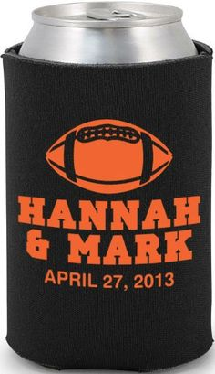 Totally Wedding Koozie - football theme wedding design thank you gifts??