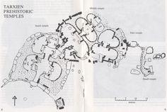 Map of Hal Tarxien Malta Archaeology Pinterest Malta