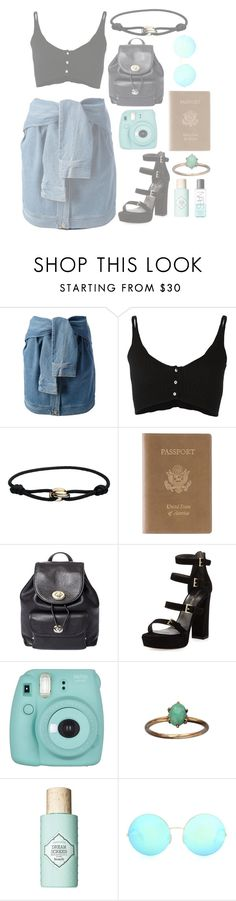 """""""Go to airport"""" by mode-222 ❤ liked on Polyvore featuring DKNY, Forte Forte, Cartier, Royce Leather, Coach, Stuart Weitzman, Benefit, Victoria Beckham and NARS Cosmetics"""