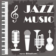 Fondo de música jazz. Vector gratis, con atribución.