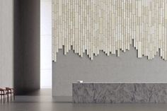 plank #acoustic panels inspired by bricklaying and woodwork | @meccinteriors | design bites