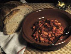 Classic Spanish: White Beans and Chorizo with Homemade Tomate Frito Spain Vs, White Beans, Chorizo, Entrees, Spanish, Pork, Beef, Homemade, Dishes