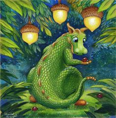 Randal Spangler - another artist whose art is so whimsical. I adore his stuff. Dragon Cat, Funny Dragon, Baby Dragon, Dragon Manga, Green Dragon, Magical Creatures, Fantasy Creatures, Randal, Dragon Pictures