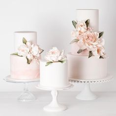 "Cake Ink. on Instagram: ""Trio... #sugarflowers #fondantcake #cakeink"""