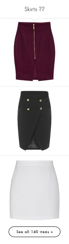 """""""Skirts ⭐️"""" by caitlin-gricks ❤ liked on Polyvore featuring skirts, bottoms, faldas, pencil skirts, faux-leather skirts, purple pencil skirt, woolen skirt, knee length pencil skirt, yoins and black"""