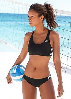 adidas Performance Racerback Black & White Bikini