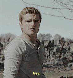 Josh Hutcherson as Peeta Mellark the Hunger games Mockingjay part 2