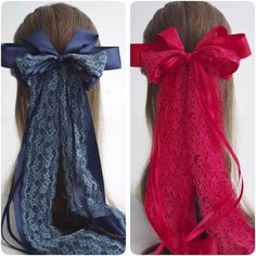 Kawaii French Lace Fabric Oversized Bow Barrette, Lolita Hair... ($19) ❤ liked on Polyvore featuring accessories, hair accessories, lolita, bow hair clips, large hair bows, formal hair accessories, hair bows and ribbon hair clips