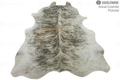 "Saddlemark Grey Brindle Premium Cowhide Rug #1155 | 6'-6"" x 5'-9"""