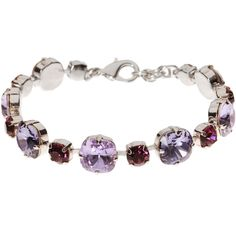 L. Erickson Audrey Bracelet ($148) ❤ liked on Polyvore featuring jewelry, bracelets, tanzanite multi, swarovski crystal jewelry and l. erickson