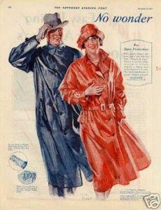 1920s Rain Coats Ad