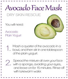 Avocado face mask - so easy!