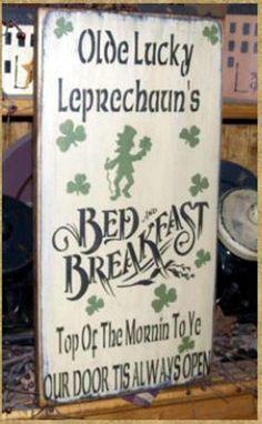 OLDE LUCKY LEPRECHAUN'S Bed & Breakfast primitive Irish