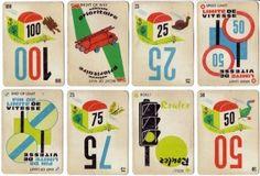 """Le """"Mille bornes"""", jeu basé sur le code de la route, les enfants piochaient avec le secret espoir de récupérer une carte prioritaire comme celle du camion des pompiers... / Vintage French game card Millesbornes. /"""