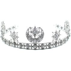 The Moon Goddess Crown ($218) ❤ liked on Polyvore featuring accessories, hair accessories and silver