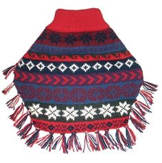 Alqo Wasi Alpaca Dog Sweater Poncho in Lucky Condor available at www.ZoePetSupply.com