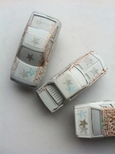 Magnete aus Spielzeugautos / Magnets made of toy cars / Upcycling