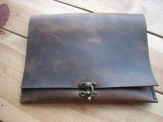 Cover iPad Leather envelope bag Handmade gifts Real leather