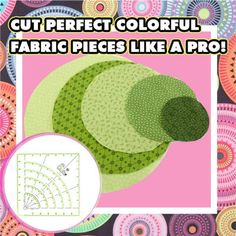 Effortlessly cut colorful circles for Patchwork with this QuiltArc Circle Cutter Ruler! ☺☺ Quilting Rulers, Quilting Tips, Quilting Tutorials, Quilting Projects, Quilting Designs, Sewing Tutorials, Sewing Projects, Circle Quilts, Quilt Blocks