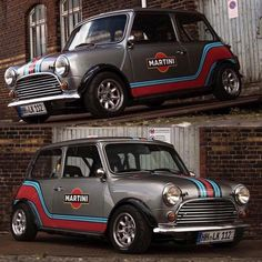 #repost @ukminis... Mini Cooper Classic, Mini Cooper Custom, Mini Cooper S, Classic Mini, Classic Cars, Fiat 600, Mini Countryman, Mini Clubman, Retro Cars