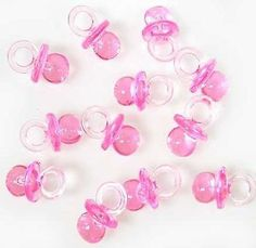 144 Mini Pink Baby Girl Pacifier Baby Shower Reveal Favors Party Decoration
