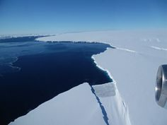 The Thurston Island calving front off of western Antarctica