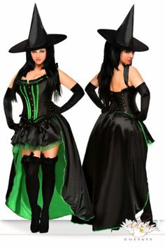 Fashion Bug Womens 5 Piece Sexy Wicked Witch Plus Size Costume www.fashionbug.us