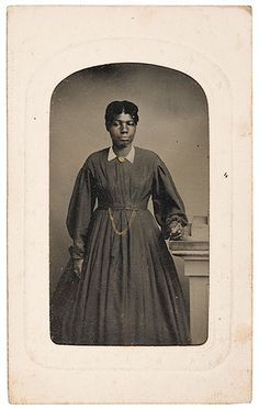 Tintype Of A Terrill Family African American Servant African American Women's Role's In The American Civil War A cdv-sized tintype of a young, unidentified African American woman, from the Dr. George...