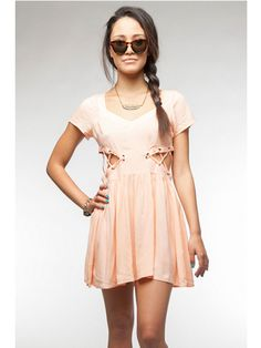 Edgy: Short Sleeve Dress With Cutouts  - Seventeen.com