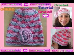 "Crochet Tutorial Gorro Caído ""Ykita"" por Maricita Colours - YouTube"