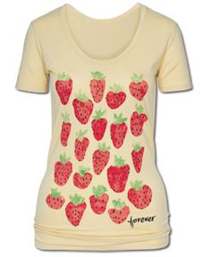"""SoulFlower-NEW! Forever Organic T-Shirt """"Let me take you down because I'm going to strawberry fields."""""""