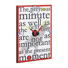 PRESENT MOMENT CLOCK | Accesible Art, Clock, Hand-painted. | UncommonGoods