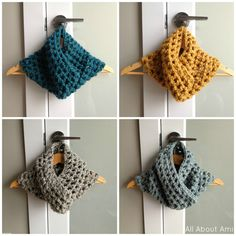 Crochet cowls - quick and easy!