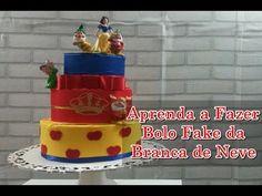 BOLO FALSO DE ISOPOR - BRANCA DE NEVE. - YouTube