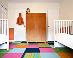 Kids Closet Organization Design, Pictures, Remodel, Decor and Ideas - page 76 colored carpet tiles fun.