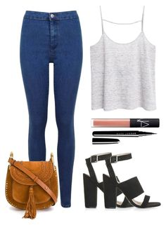 """""""Simple Style"""" by maevaxstyle ❤ liked on Polyvore featuring MANGO, Topshop, Miss Selfridge, Chloé, Marc Jacobs and NARS Cosmetics"""