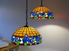 Ensemble de lampes de type Tiffany
