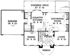 House Plan 53398 Level One