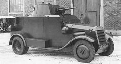 Danish armoured car L-185 developed by the Swedish company AB Landsverk. In 1934, built on a 4 x 4 Fordson chassis and ford motor (85hp), was sold to Denmark. It was issued to the Army Technical Corps of the Danish Army. Main armament: Danish Madsen 20mm cannon. Secondary armament: 2 x Madsen machine guns.