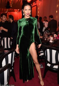 Luxe Celeb Style | Adriana Lima just raised the bar for sexiest holiday dress! | The Luxe Lookbook