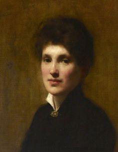Portrait of Henrietta Lowy Solomon, the Artist's Sister by Solomon Joseph Solomon  (British 1860–1927)...date?