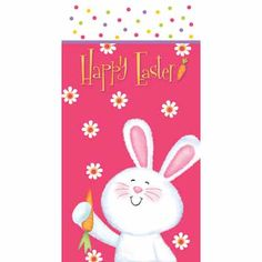 Fill the Easter Bunny Favors Bags from the Hippity Hop pattern with fantastic spring party favors. 20 bags for $2.85 at Party World