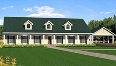 Simple Rectangular Ranch House Plan Expansive One Story I Like The Carport How Could We